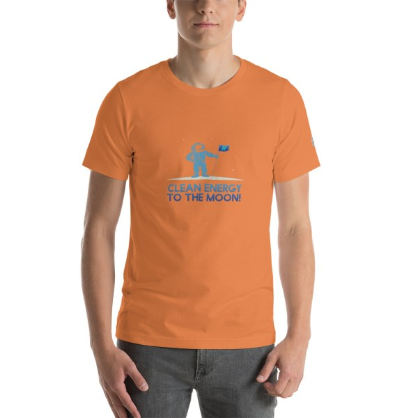 Clean Energy to the Moon Short Sleeve T-Shirt - Multiple Color Options 82