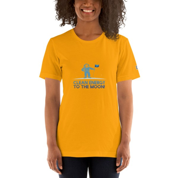 Clean Energy to the Moon Short Sleeve T-Shirt - Multiple Color Options 52
