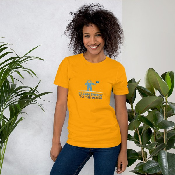 Clean Energy to the Moon Short Sleeve T-Shirt - Multiple Color Options 53