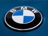 BMW hydrogen fuel - BMW logo on wet vehicle