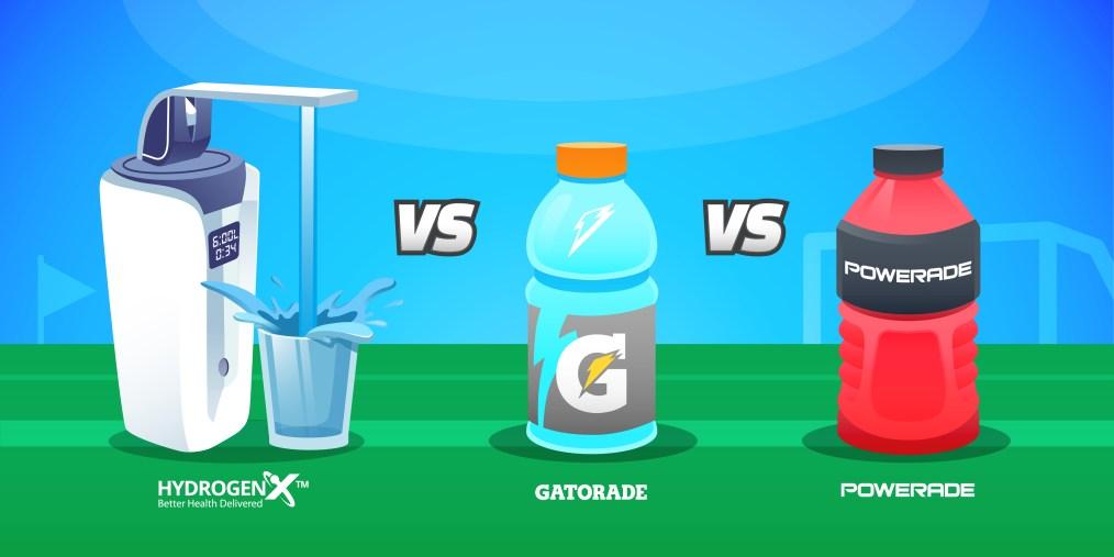 Alkaline Water Vs Gatorade Vs Powerade HydrogenX Water Ionizers