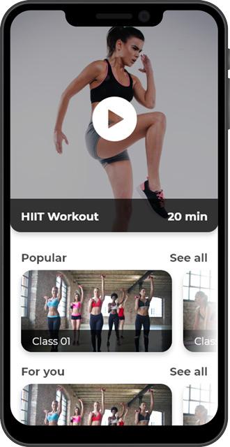 Virtual fitness app