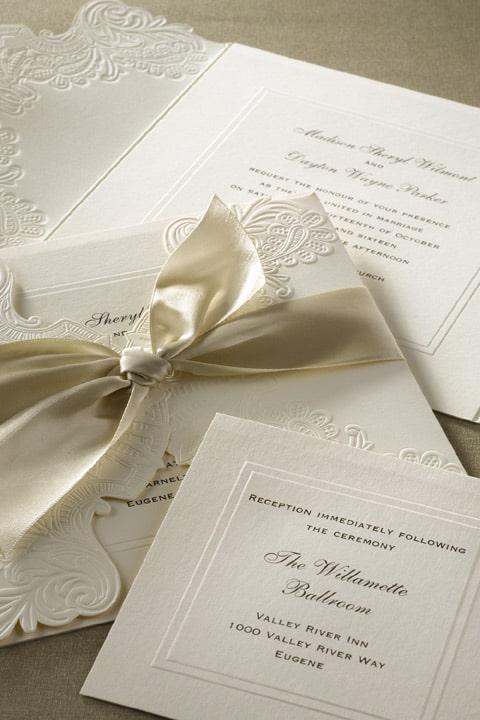 Innovative Silver Wedding Invitations Dawn