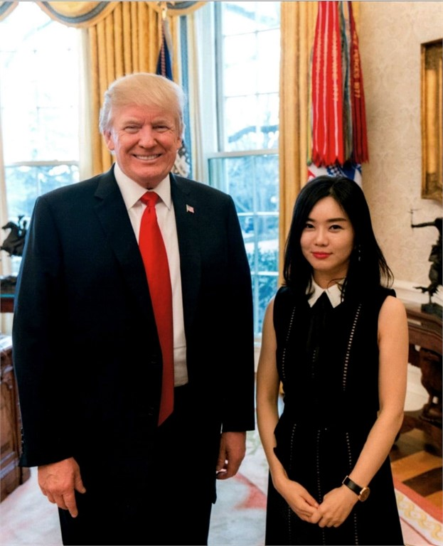Image result for hyeonseo lee trump
