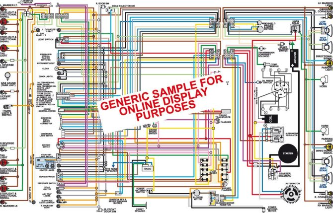 1966 ford mustang color wiring diagram1966mustang