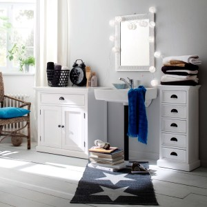 White Furniture Bathroom Storage Solutions