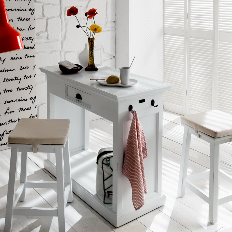 Halifax Kitchen Table Set with Two Stools