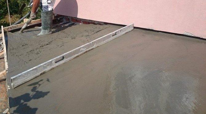 Støp av balkong 2.etg