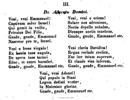 Veni, Veni Emmanuel - Daniel - 1855