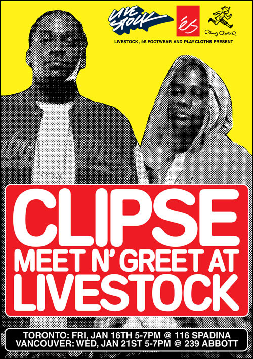 dc78152961 Later this month, The Clipse are set to roll through the chilly Great North  making stops at respective Livestock locations in Vancouver and Toronto.