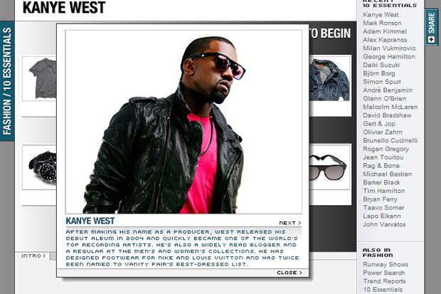 kanye west 10 essentials MEN.STYLE.com 10 Essentials Kanye West