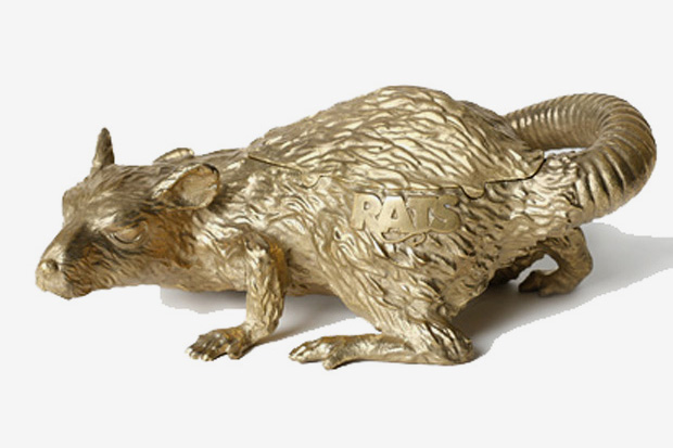 rats metallic gold ashtray RATS Metallic Gold Ashtray