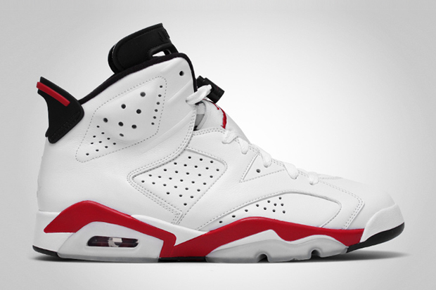 air jordan 6 retro white varsity red black Air Jordan 6 Retro White/Varsity Red Black