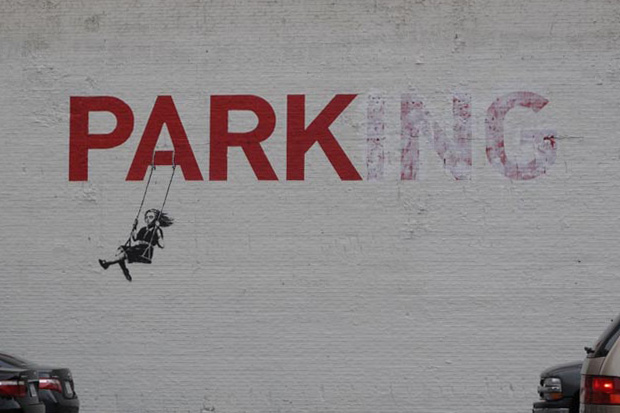 banksy parking los angeles la Banksy in Los Angeles Parking