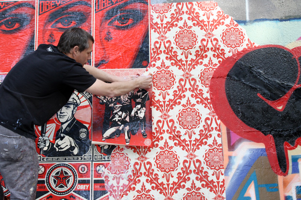 shepard fairey cope2 bronx mural 7 Cope2 x Shepard Fairey Bronx Mural
