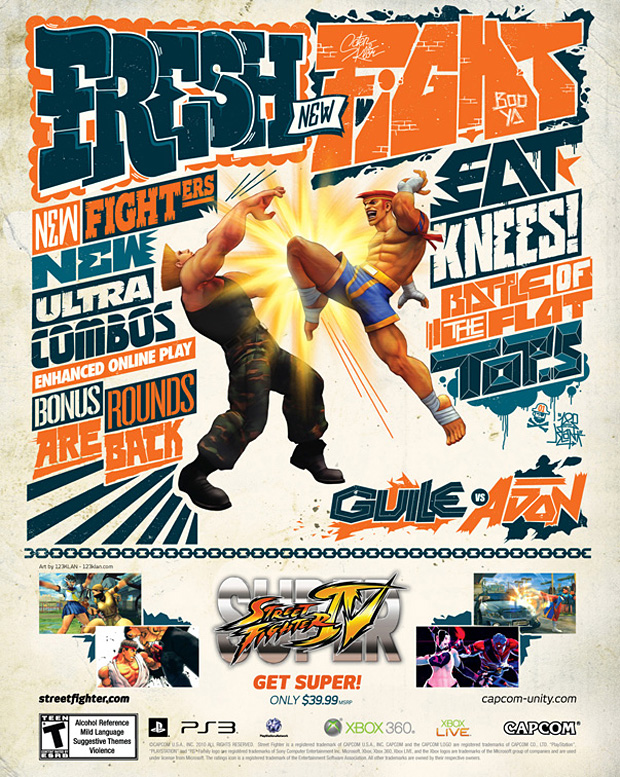 super street fighter 4 artist covers 4 Super Street Fighter IV Artist Series Posters