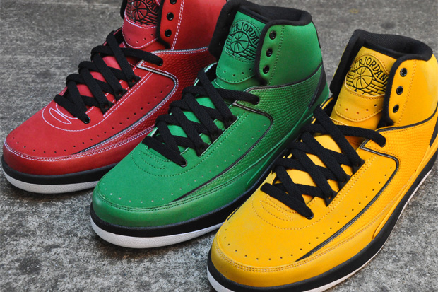 air jordan ii rasta pack 3 Air Jordan II Retro Candy Pack
