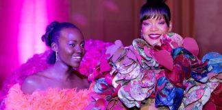 Rihanna and Lupita Nyongo