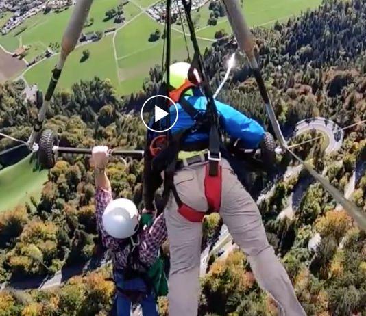 Hang glider cheats death