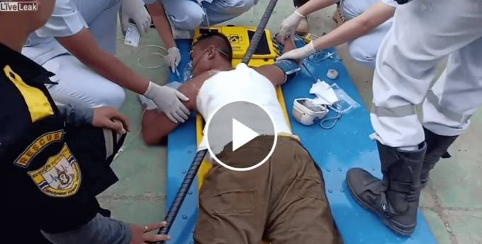 Man Impaled on Iron Rod After Falling From 50 Feet Up!