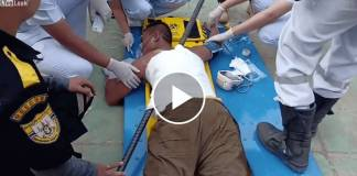 Man Impaled on Iron Rod After Falling