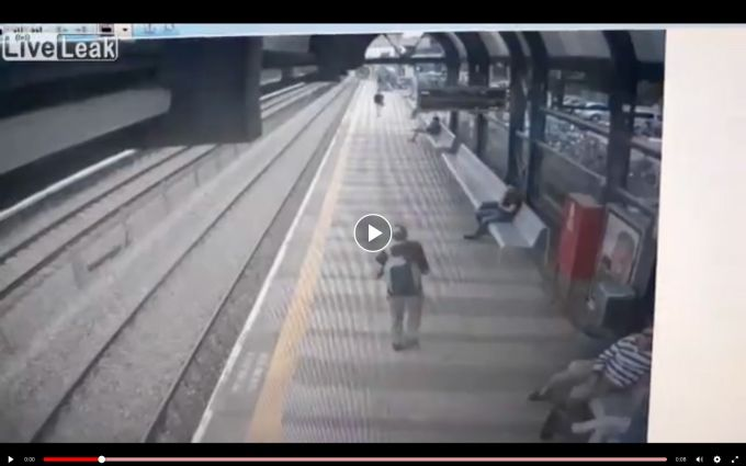Man commits SUICIDE by train…His body THROWN 100 feet!