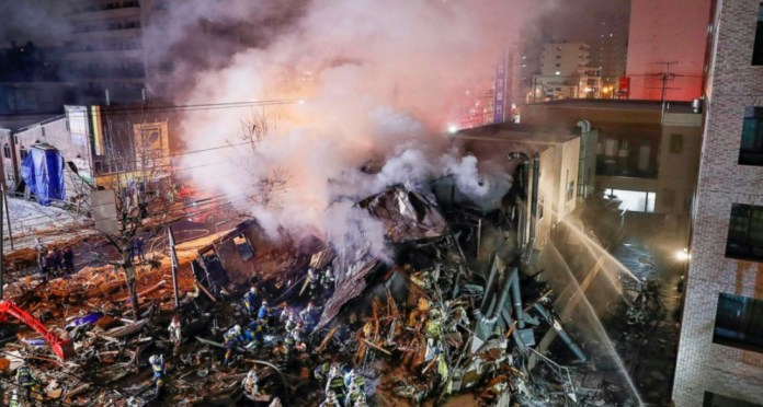 Explosion at Japanese restaurant