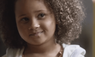 Gracie in Cheerios ad