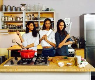 Jourdan Dunn Chanel Iman and Joan Smalls
