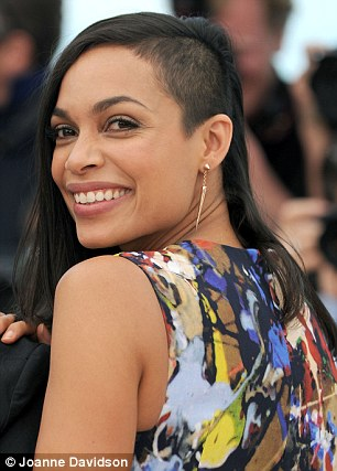 Rosario Dawson Debuts Her Shaved Head At Cannes Film Festival