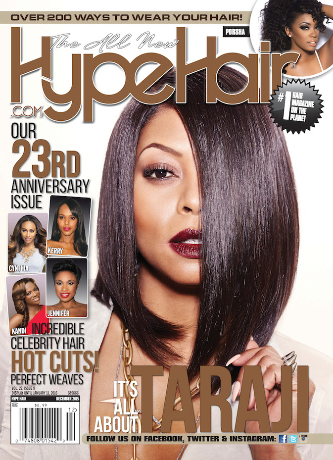 Taraji P Henson Covers Hype Hair December 2015