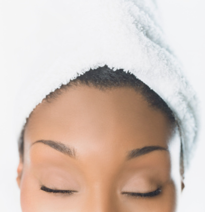Women With Towel on Head