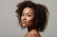 glowing skin - natural hair