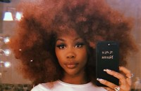 Sza red afro