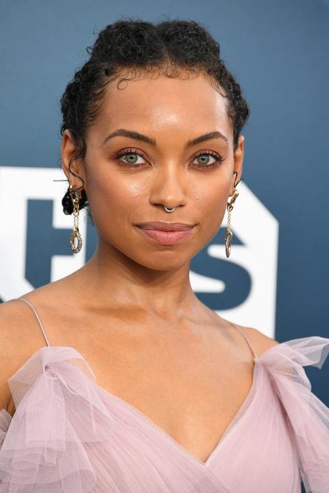 We Re Obsessed With Logan Browning S Curly Cornrows