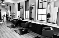 salon in black and white