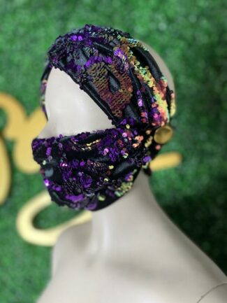 S. Denton Sequin Mask and Turban
