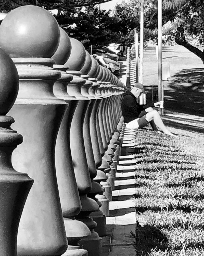 Are we all pawns in the end? #coogeebeach #repetition #bwphotography #shadows #shotoniphone
