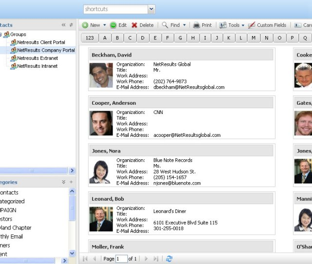 Organize Contact Lists Online