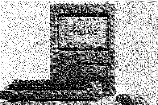 """Hello"" written on the screen of an original Macintosh"