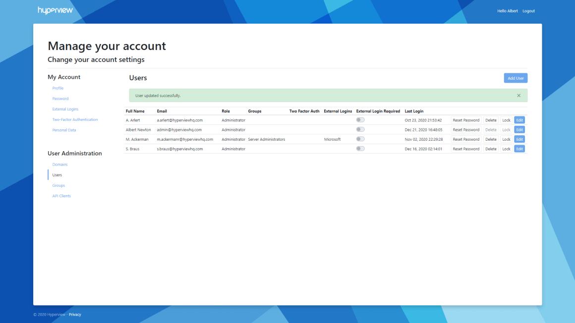 Enhanced User Management