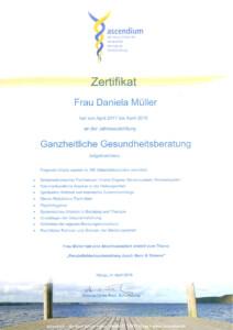 Zertifikat ganzheitliche Gesundheitsberatung / Coaching