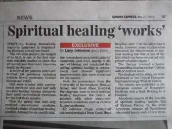 Evidence from the medical profession that Spiritual Healing works