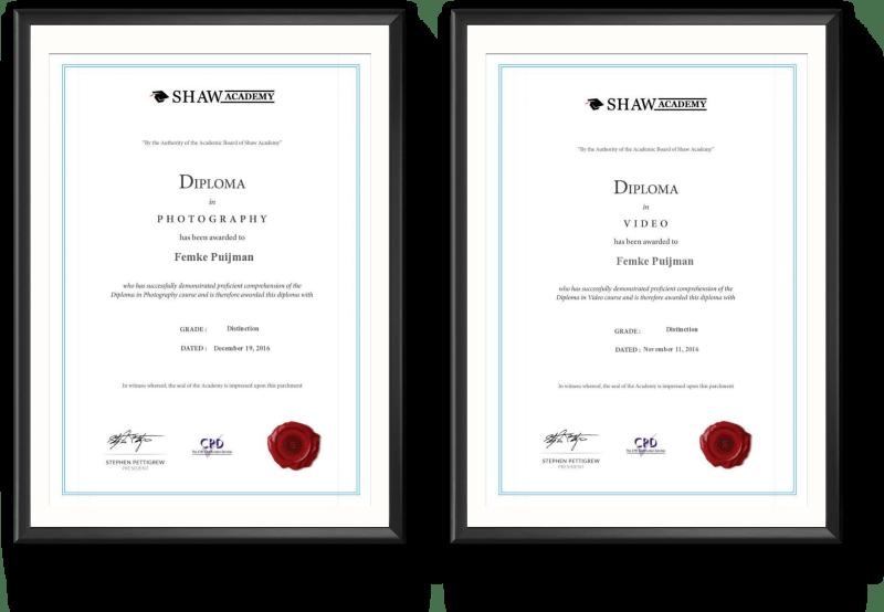 Diploma fotografie & video
