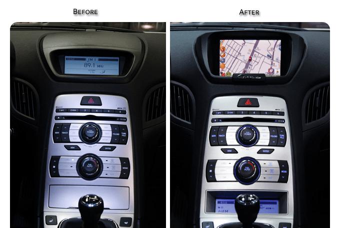 JY Custom HGENC 14 Navigation Housing and Digital Display Housing Kit