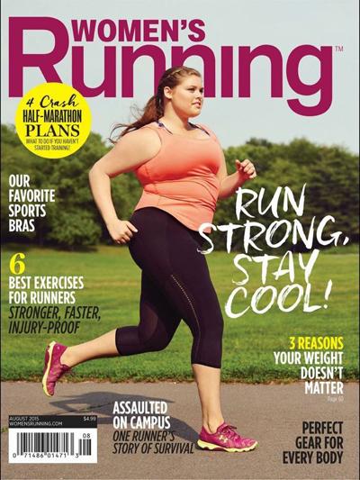 Omslagsmodellen på Women's Runnings augustinummer bryter mot den trådsmala normen