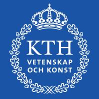 KTH:s logotyp i blått och vitt