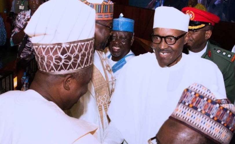 Buhari meets with 36 State Governors of Nigeria with exception of Fayose