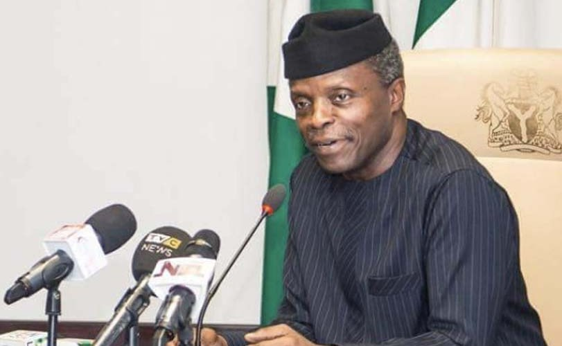 Image result for PDP didn't complete one major infrastructure project in 10 years – Osinbajo