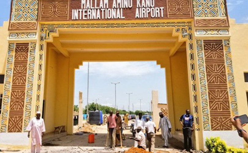 Kano State governor inspect new Airport gate